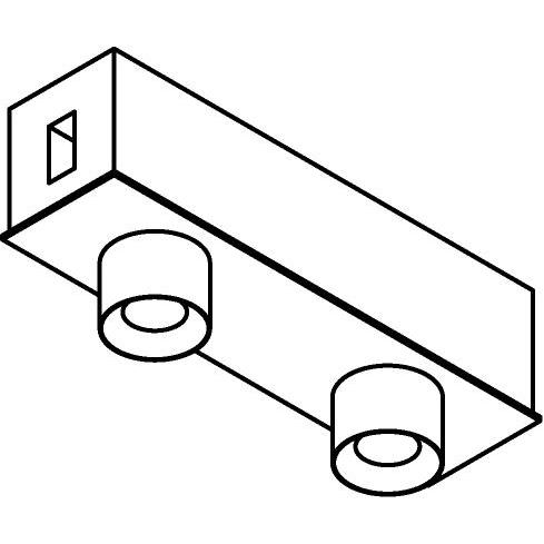 Drawing of 8232/.. - STILETTO, rond - Afdekplaat met 2 opbouwspots Zialed - met LED driver