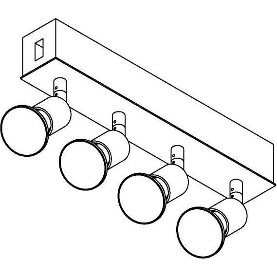 Drawing of 8244/.. - STILETTO, Verbindingsdoos met 4x Capa op tige 5cm