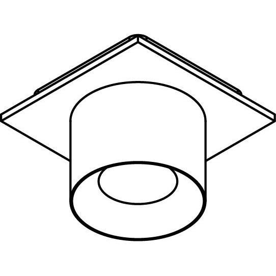 Drawing of 8200/.. - STILETTO, opbouwspot - Afdekplaat met Zialed - zonder LED driver
