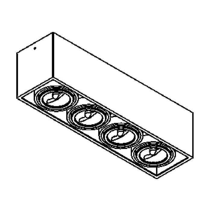 Drawing of 1878.GU10/.. - SPINNER X AR70 GU10, opbouw plafondverlichting - richtbaar - down