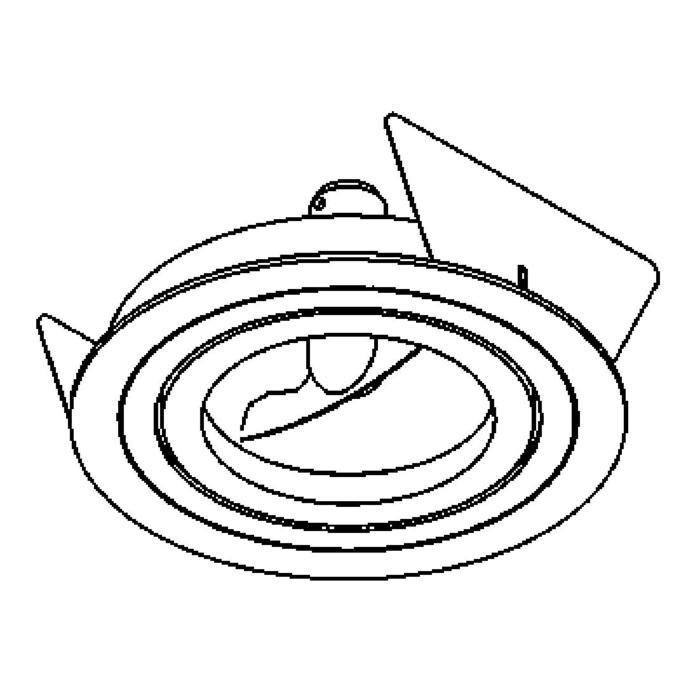 Drawing of DIVAAR70.GU10/.. - AR70 Ø100, inbouwspot - rond - richtbaar