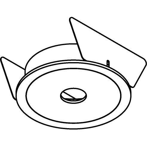 Drawing of ONO.B3/.. - Ø70, inbouwbasis voor pendel met bolgewricht - rond - zonder transfo