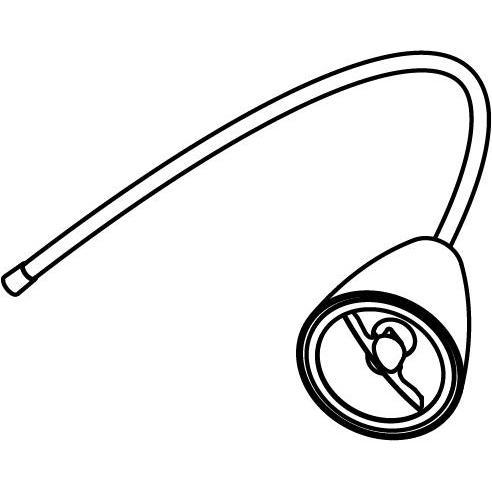 Drawing of 1961.ES50/.. - VOLTA FLEX, opbouwspot M10 met flexibele arm - rond - richtbaar - zonder rozet