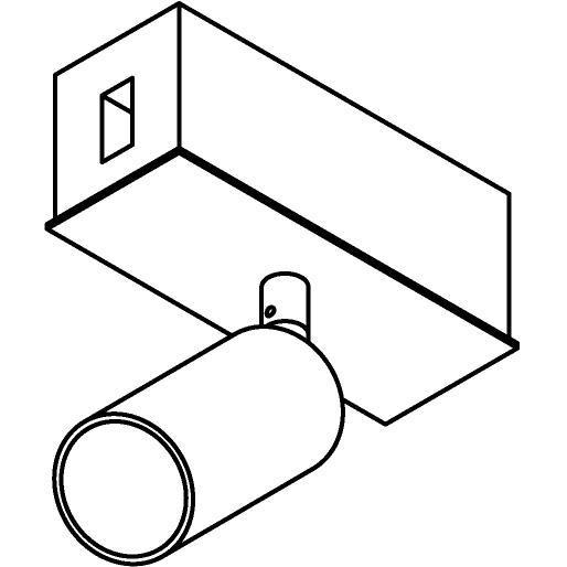 Drawing of 8226/.. - STILETTO, Verbindingsdoos met Jacob ledspot op tige 5cm - met LED driver
