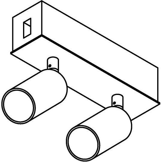 Drawing of 8227/.. - STILETTO, Verbindingsdoos met 2x Jacob ledspot op tige 5cm - met LED driver
