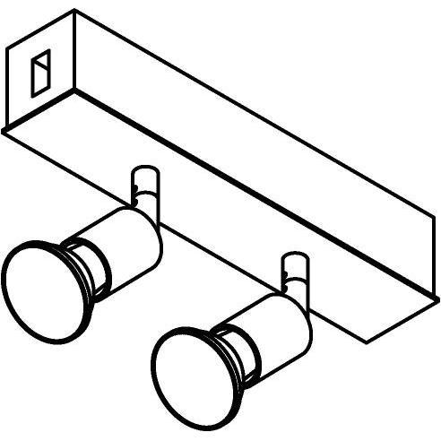 Drawing of 8239/.. - STILETTO, Verbindingsdoos met 2x Capa op tige 5cm