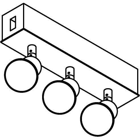 Drawing of 8240/.. - STILETTO, Verbindingsdoos met 3x Capa op tige 5cm