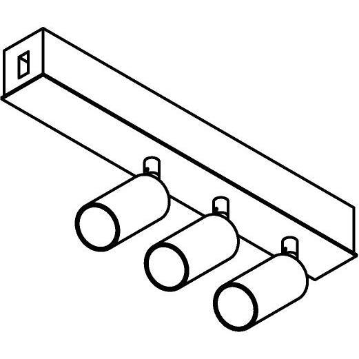 Drawing of 8247/.. - STILETTO, Verbindingsdoos met 3x Jacob ledspot op tige 5cm - met LED driver
