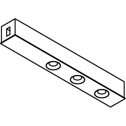 Drawing of 8249/.. - STILETTO, Verbindingsdoos met 3x inbouwspot ZiaLed M - met LED driver