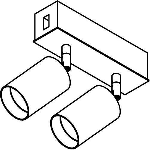 Drawing of 8231/.. - STILETTO, Verbindingsdoos met 2x Capa X op tige 5cm