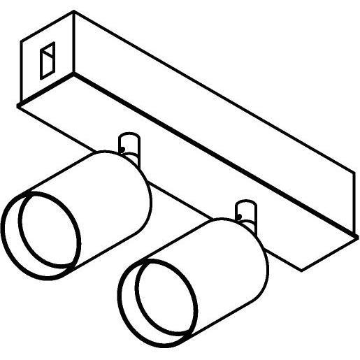 Drawing of 8256/.. - STILETTO, Verbindingsdoos met 2x Capa X op tige 5cm