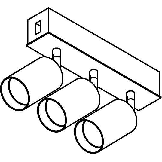 Drawing of 8257/.. - STILETTO, Verbindingsdoos met 3x Capa X op tige 5cm