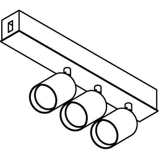 Drawing of 8259/.. - STILETTO, Verbindingsdoos met 3x Capa X op tige 5cm