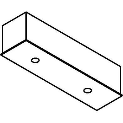 Drawing of 8320/.. - STELLA, rechthoekige basis voor opbouwspot of pendel