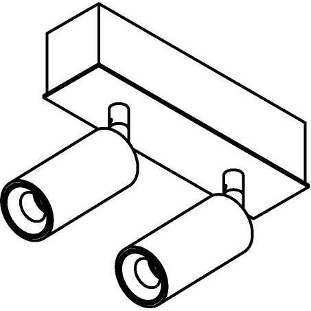 Drawing of 8323/.. - STELLA, opbouw plafondverlichting - richtbaar - met Jacob - met LED driver