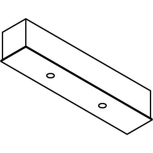 Drawing of 8324/.. - STELLA, rechthoekige basis voor opbouwspot of pendel