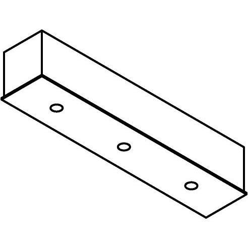 Drawing of 8325/.. - STELLA, rechthoekige basis voor opbouwspot of pendel