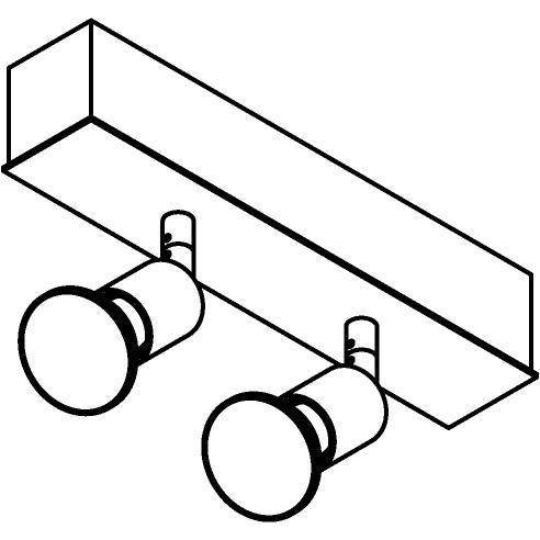 Drawing of 8326/.. - STELLA, opbouw plafondverlichting - richtbaar - met Capa spot