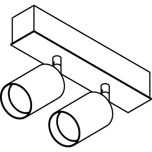 Drawing of 8327/.. - STELLA, opbouw plafondverlichting - richtbaar - met Capa X