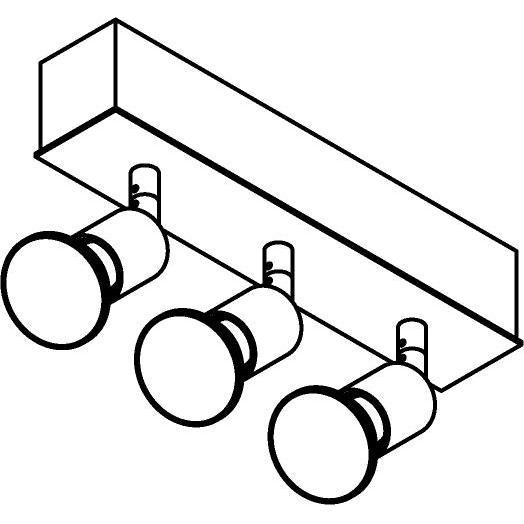 Drawing of 8328/.. - STELLA, opbouw plafondverlichting - richtbaar - met Capa spot
