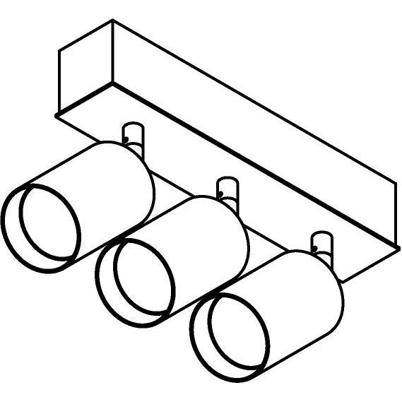 Drawing of 8329/.. - STELLA, opbouw plafondverlichting - richtbaar - met Capa X