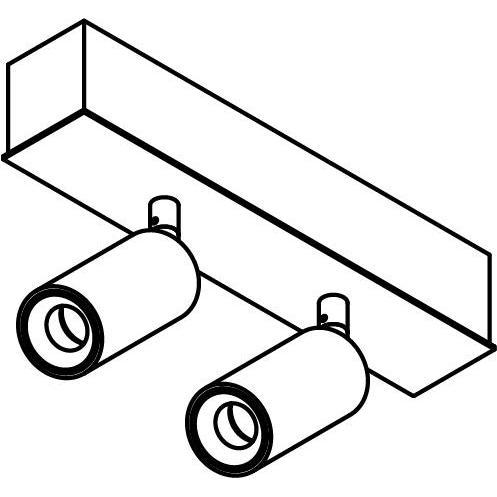 Drawing of 8330/.. - STELLA, opbouw plafondverlichting - richtbaar - met Jacob - met LED driver