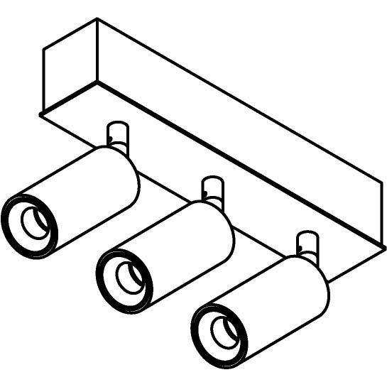 Drawing of 8331/.. - STELLA, opbouw plafondverlichting - richtbaar - met Jacob - met LED driver