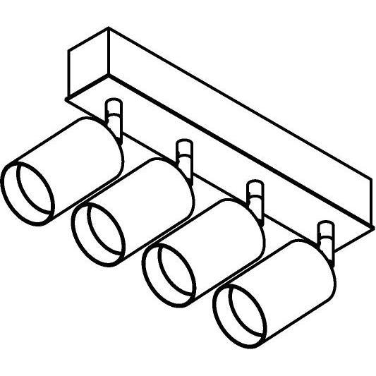 Drawing of 8333/.. - STELLA, opbouw plafondverlichting - richtbaar - met Capa X