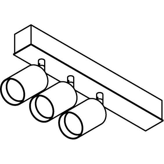 Drawing of 8335/.. - STELLA, opbouw plafondverlichting - richtbaar - met Capa X