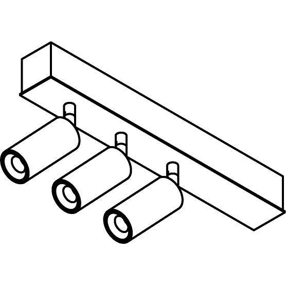 Drawing of 8336/.. - STELLA, Aufbau Deckenleuchte - schwenkbar - mit Jacob - mit Driver LED