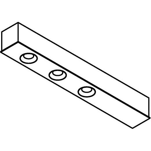 Drawing of 8339/.. - STELLA, opbouw plafondverlichting - vast - met 3 ronde inbouwspots - met LED driver