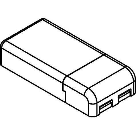 Drawing of TR123400/.. - MULTI DRIVER - TRANSFO, multi driver - vierkant - DC MINI JOLLY  15W 350mA - 20W 500mA/700mA - 15W 24VDC - DIMMABLE - PUSH - 1-10V