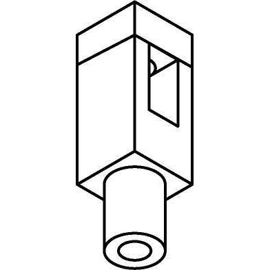 Drawing of 8267.M10X1/.. - STILETTO, Montagenippel für Schwere Pendelleuchte oder Strahler