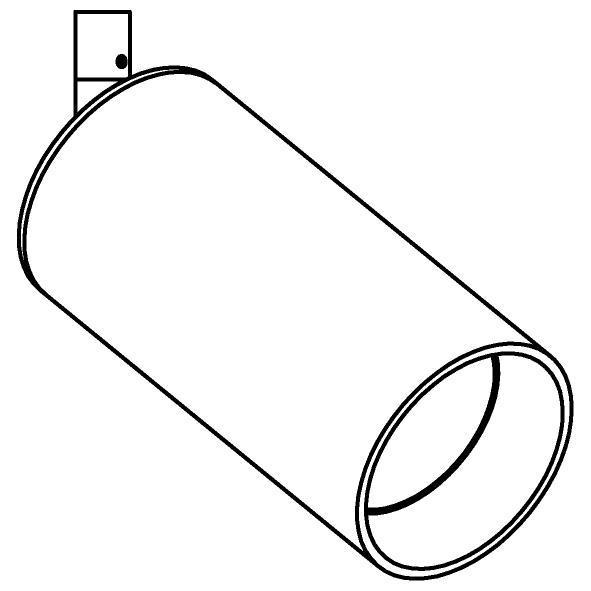 Drawing of 3989M/.. - CAPA XL, opbouwspot M10 - rond - richtbaar - zonder ledlamp