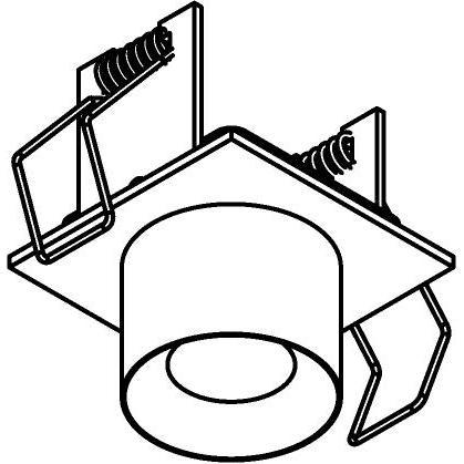 Drawing of 8350/.. - STELLA IN, half in- en opbouw spot - vierkant - vast - met ronde Zia Led - zonder LED driver