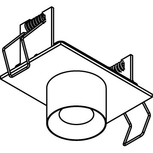Drawing of 8351/.. - STELLA IN, half in- en opbouw spot - vierkant - vast - met ronde Zia Led - zonder LED driver