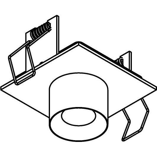 Drawing of 8352/.. - STELLA IN, half in- en opbouw spot - vierkant - vast - met ronde Zia Led - zonder LED driver