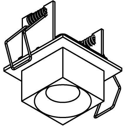 Drawing of 8355/.. - STELLA IN, Halbeinbau und Halbaufbau strahler - viereckig - fest -  mit Viereckige Zia Led - ohne Driver LED