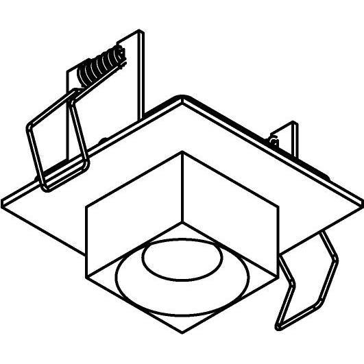 Drawing of 8357/.. - STELLA IN, half in- en opbouw spot - vierkant - vast - met vierkante Zia Led - zonder LED driver