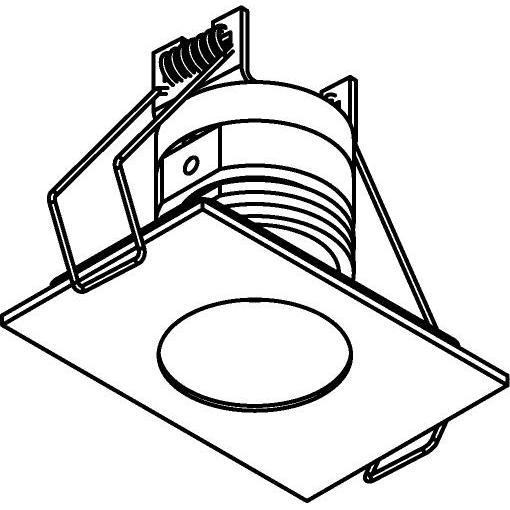 Drawing of 8361/.. - STELLA IN, inbouwspot - vierkant - vast - met ronde Zia Led - zonder LED driver
