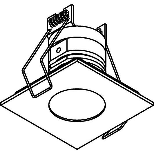 Drawing of 8362/.. - STELLA IN, inbouwspot - vierkant - vast - met ronde Zia Led - zonder LED driver