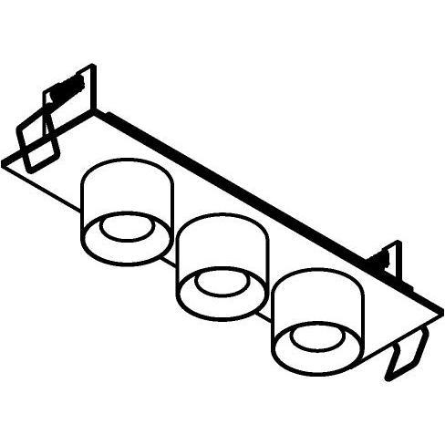 Drawing of 8367/.. - STELLA IN, half in- en opbouw spot - vierkant - vast - met ronde Zia Led - zonder LED driver