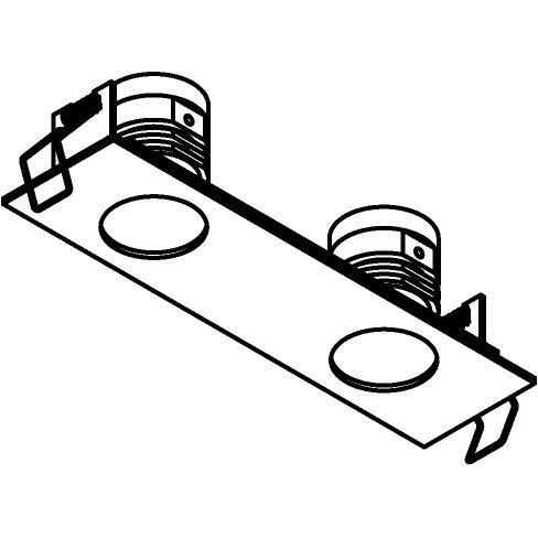 Drawing of 8366/.. - STELLA IN, Einbaustrahler - viereckig - fest - mit Runde Zia Led - ohne Driver LED