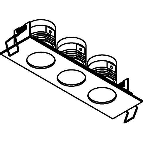 Drawing of 8369/.. - STELLA IN, inbouwspot - vierkant - vast - met ronde Zia Led - zonder LED driver