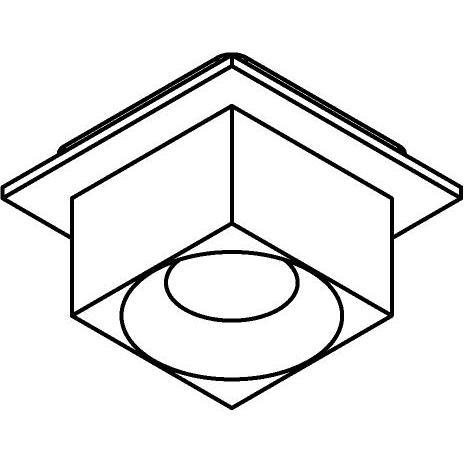 Drawing of 8261/.. - STILETTO, spot apparent - carré - fixe - Couvercle avec Zialed - sans driver LED