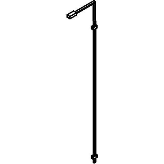 Drawing of 1047/.. - JAMES WALL, opbouw wandlicht - richtbaar - met beweegbare arm - met LED driver