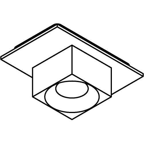 Drawing of 8272/.. - STILETTO, spot apparent - carré - fixe - Couvercle avec Zialed - sans driver LED