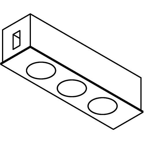 Drawing of 8116/.. - STILETTO, Verbindingsdoos met 3 inbouwspots Zialed - zonder LED driver