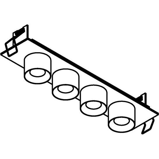Drawing of 8370/.. - STELLA IN, half in- en opbouw spot - vierkant - vast - met ronde Zia Led - zonder LED driver