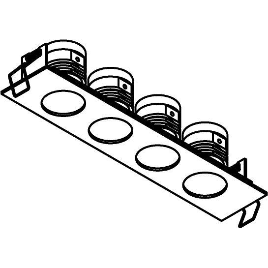 Drawing of 8372/.. - STELLA IN, inbouwspot - vierkant - vast - met ronde Zia Led - zonder LED driver
